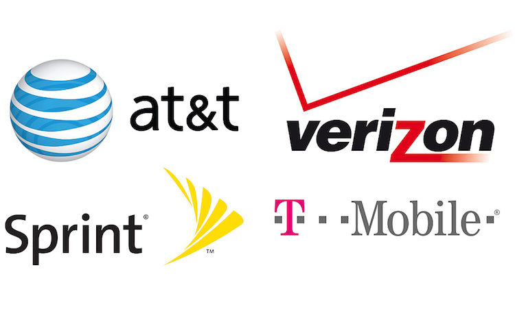 Which smartphones are exclusive to Verizon, AT&T, Sprint